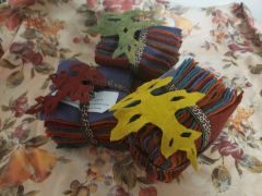 "Fall Charmpack ( wool felts ) 36- 5""x5"" squares of 6 colors already felted"