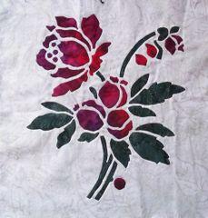 Rose:2 of 9 pillow/block 16x16