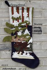 #229 Adirondack moose stocking pattern