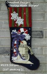 "#253 Stripes pattern( makes 25"" long stocking )"