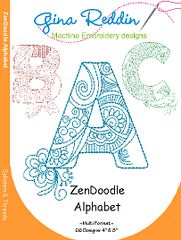 Machine Embroidery CD- Zendoodle Alphabet