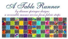"""Table runner pattern- A Table Runner reversible- 12""""x38"""""""