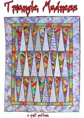 "Quilt Pattern- Triangle Madness- 72 1/2"" x 93"""