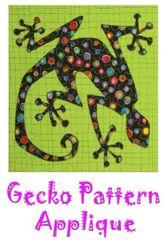Applique Pattern- 3 sizes - Gecko