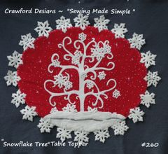 #260 The Snowflake Tree - table topper /wallhanging