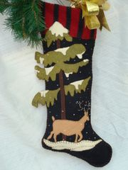 "#064 ""Woodland "" 25"" long stocking"