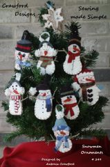 #249 Snowmen ornaments pattern