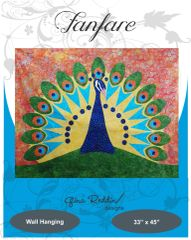 Applique pattern-Fanfare- (33″ x 45″)