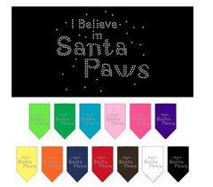 Bandana - Santa Paws Rhinestone