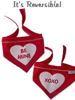Bandana - Red Be Mine/XOXO Reversible