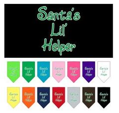 Bandana - Santa's Lil' Helper Screen Print