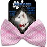 Bow Tie - Valentine's Light Pink Plaid Bow Tie
