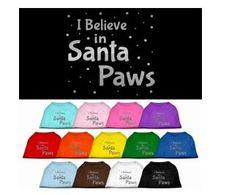 Tee Shirt - Santa Paws Screen Print