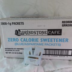"Grindstone Cafe Zero Calorie ""Blue"" Sweetener - 2,000 Ct. Case"