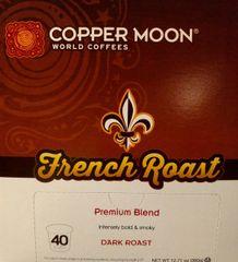Copper Moon French Roast 40 Count Box Single Cup Coffee