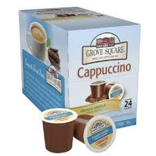 Grove Square French Vanilla Cappuccino Single Cup - 24 Count