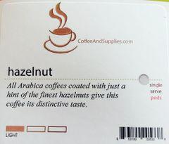 CoffeeAndSupplies Hazelnut Soft Pod - Box of 18