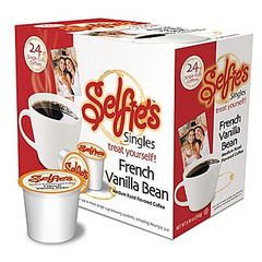 Selfie's French Vanilla Bean Flavored Coffee Pod - Single Cup