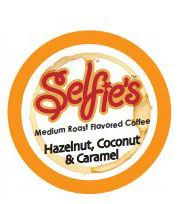 Selfie's Hazelnut Coconut Caramel Flavored Coffee Pod - Single Cup