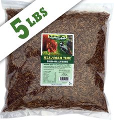 Mealworm Time®Dried Mealworms - (5 lbs)