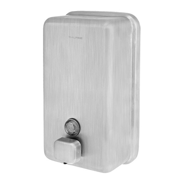 MANUAL SURFACE-MOUNTED STAINLESS STEEL LIQUID SOAP DISPENSER