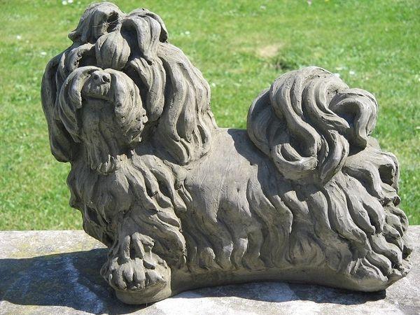 Shih Tzu Dog Statue Surrey Ornamental Stoneware
