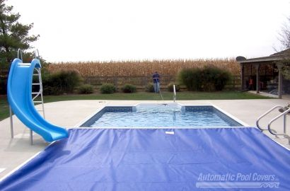 ManualGuard pool cover was designed with limited space and cost