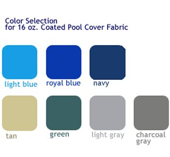 Replacement fabric for a 16x32 pool with under track coping.