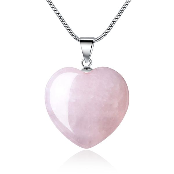 rose necklace quartz pink listing il strawberry pendant