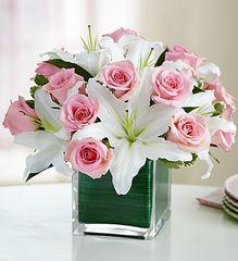 Pink Rose & Lily Cube- lov11