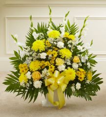 Heartfelt Tribute Floor Basket Arrangement- sym40