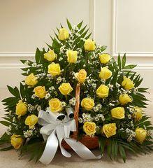 Sincerest Sympathies Fireside Basket - Yellow- sym42