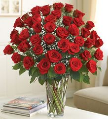 48 Premium Long Stem Red Roses- lov16