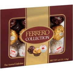 Ferrero Collection Fine Assorted Confections, 12 count, 4.04 oz - can12