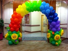 Rainbow of balloons - bal02