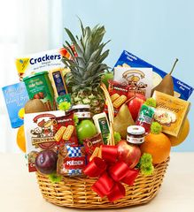 Deluxe Fruit & Gourmet Basket - fru08
