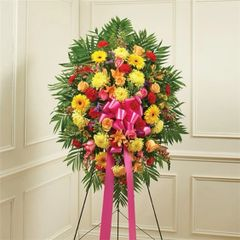 MULTICOLOR BRIGHT SYMPATHY STANDING SPRAY- sym09