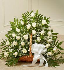 Sincerest Sympathies Fireside Basket - White- sym45