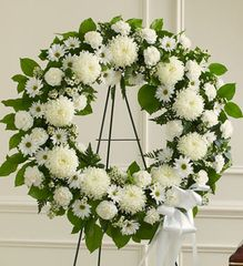 Serene Blessings White Standing Wreath- sym23