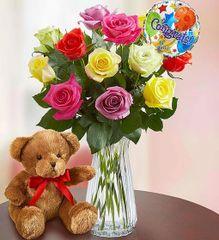 Congratulations Assorted Roses 12 - gra22