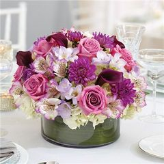 PURPLE ELEGANCE CENTERPIECE -wed14