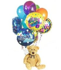 Happy Birthday! Teddy Bear & Balloons plu02