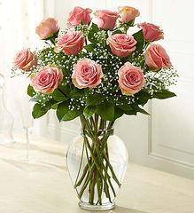 Premium Long Stem Pink Roses- lov10