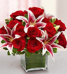 Red Rose and Lily Cube- lov06
