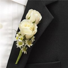 BLUE RING BEARER BOUTONNIERE - wed24