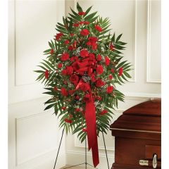 RED MIXED SYMPATHY STANDING SPRAY- sym14
