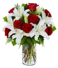 Red Rose & Lily Arrangement - ann20