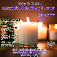 Adult Candle Making Party/Class (one person)