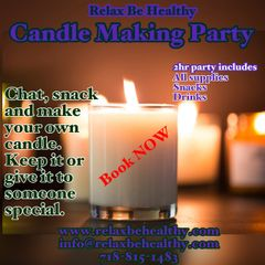 Adult Candle Making Party (for party of 8)