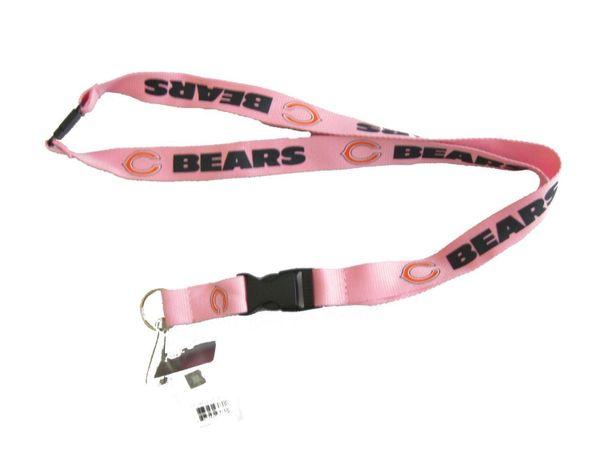 NFL Chicago Bears Pink Lanyard